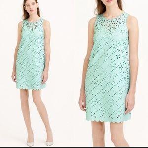 J. Crew Laser Cut Shift Dress Mint Size 0